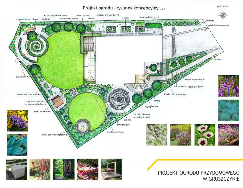 Projekt Ogrodu W Gruszczynie Green Up Projektowanie Terenów Zieleni